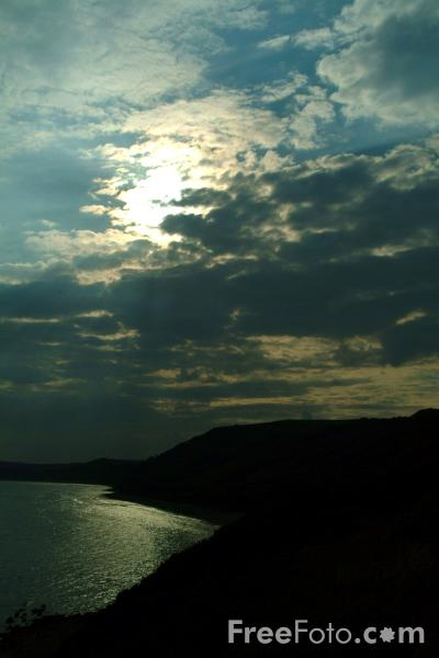 Picture of Sun Setting over the Sea, Osmington Mill, Dorset - Free Pictures - FreeFoto.com