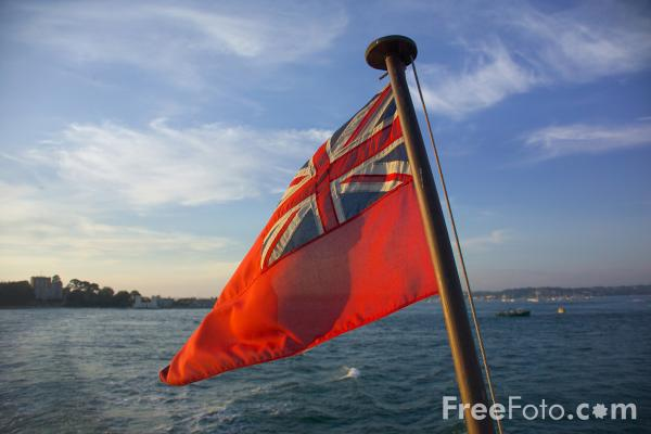 Picture of UK Red Ensign Flag - Free Pictures - FreeFoto.com