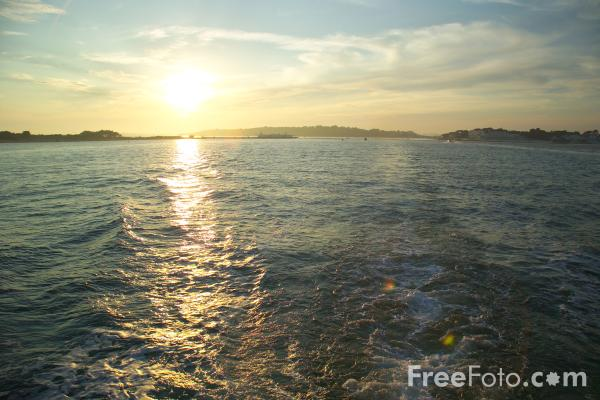 Sunset, Studland Bay pictures, free use image, 1012-19-4 by FreeFoto.