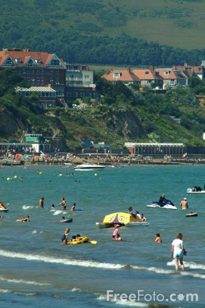 Picture of The Beach, Swanage, Dorset. - Free Pictures - FreeFoto.com