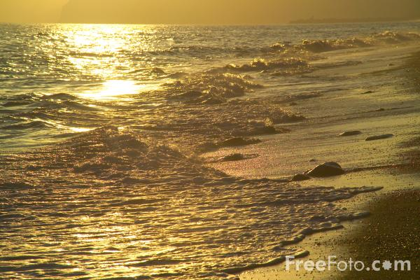Picture of Sunset, Cogden Beach, Dorset - Free Pictures - FreeFoto.com