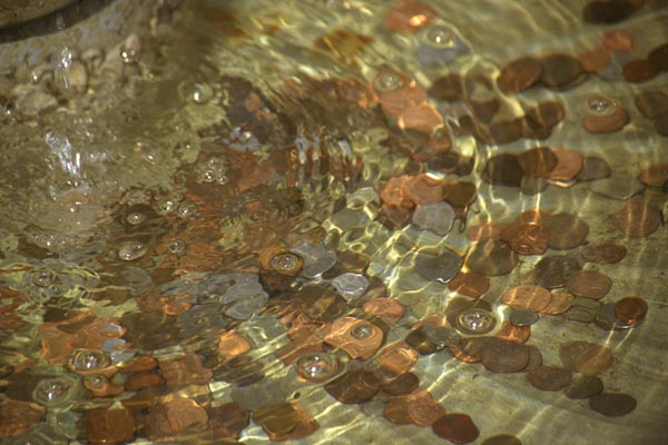 Picture of Coins in a fountain - Free Pictures - FreeFoto.com