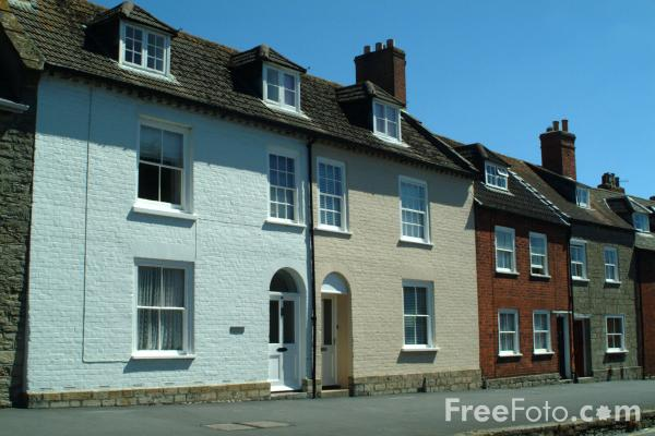 Picture of Houses, South Street, Bridport, Dorset, England - Free Pictures - FreeFoto.com