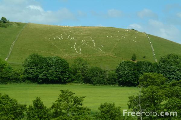 Picture of The Cerne Abbas Giant, Dorset, England - Free Pictures - FreeFoto.com