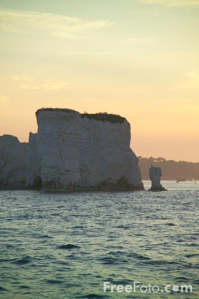 Picture of Sunset, Old Harry, Handfast Point, Dorset - Free Pictures - FreeFoto.com