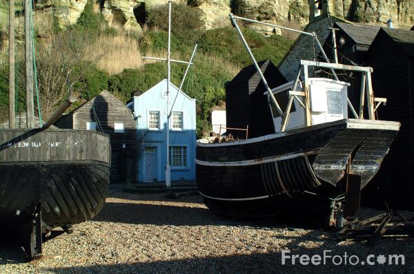 Picture of Hastings Fishing Fleet - Free Pictures - FreeFoto.com
