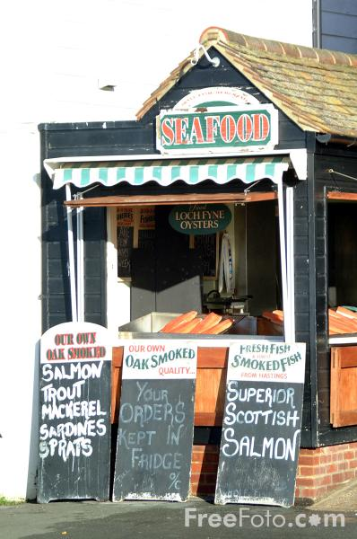 Picture of Sea Food Shop, Hastings - Free Pictures - FreeFoto.com
