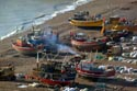Image Ref: 1015-05-9 - Britain's biggest fleet of beach-launched fishing boats at Hastings, Viewed 4750 times