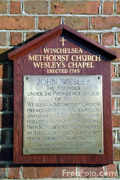 Picture of Winchelsea Methodist Church Wesley's Chapel - Free Pictures - FreeFoto.com