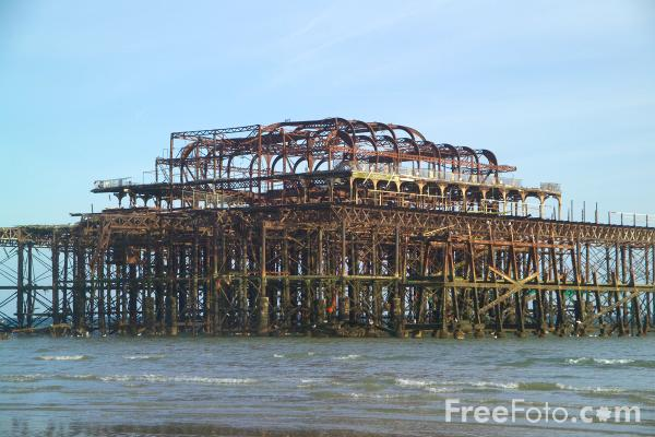 Picture of West Pier, Brighton, Sussex - Free Pictures - FreeFoto.com