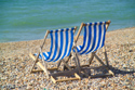 Deck chairs, Brighton seafront, Sussex has been viewed 9422 times