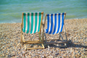 Deck chairs, Brighton seafront, Sussex has been viewed 4773 times