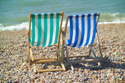 Deck chairs, Brighton seafront, Sussex has been viewed 4779 times