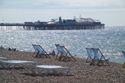 Deck chairs, Brighton seafront, Sussex has been viewed 6501 times