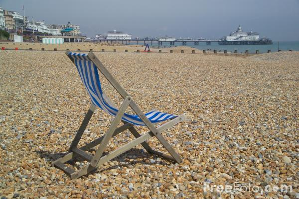 Picture of Deck Chair, Eastbourne, East Sussex - Free Pictures - FreeFoto.com