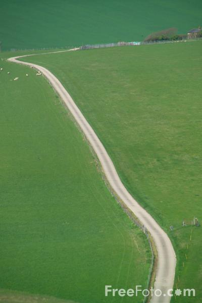 Picture of The South Downs from Beachy Head, East Sussex - Free Pictures - FreeFoto.com