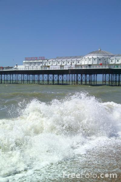 Picture of Brighton Pier, Sussex - Free Pictures - FreeFoto.com