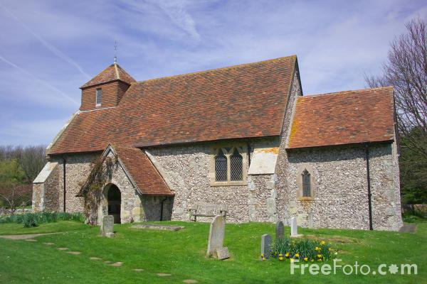 Picture of St Mary the Virgin's Church Friston with East Dean, Sussex - Free Pictures - FreeFoto.com