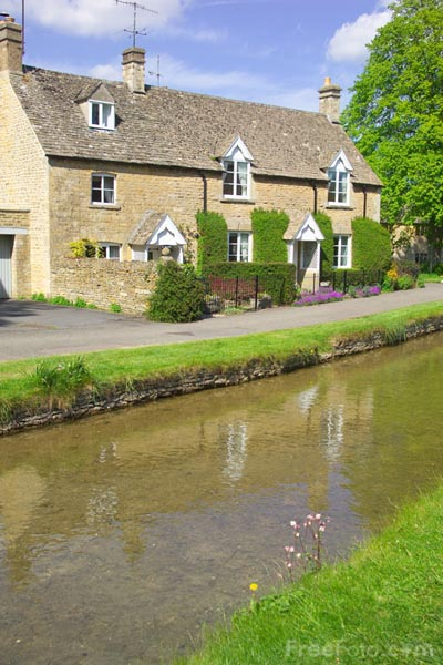 Picture of Lower Slaughter, Gloucestershire - Free Pictures - FreeFoto.com