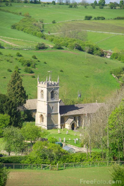 Picture of Cotswold village, Gloucestershire - Free Pictures - FreeFoto.com