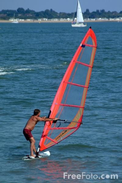 Picture of Windsurfing, Calshot, Hampshire - Free Pictures - FreeFoto.com