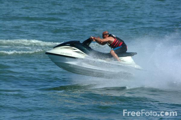 Picture of Jet Ski, Calshot, Hampshire - Free Pictures - FreeFoto.com