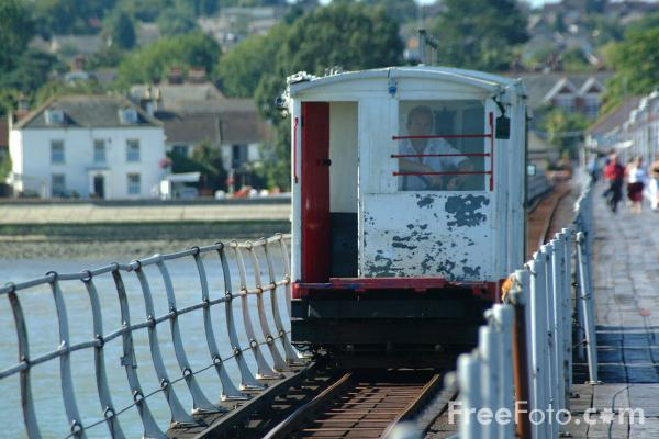 FreeFoto.com - Hythe Pier and Railway, Hampshire - The oldest operating pier railway in Britain