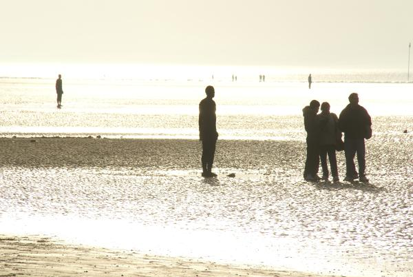Picture of Another Place, Crosby Beach, Merseyside - Free Pictures - FreeFoto.com
