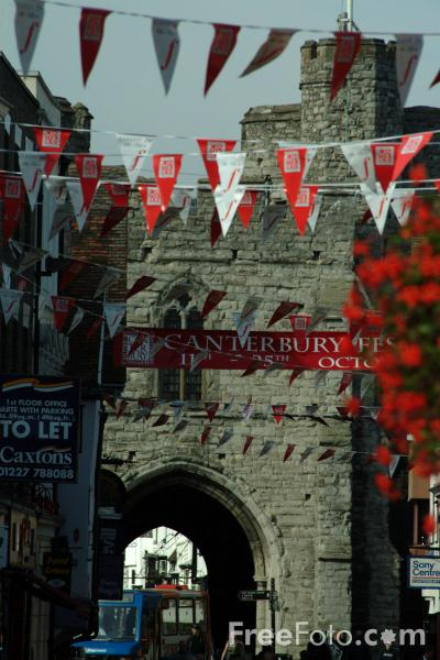 Picture of West Gate, Canterbury, England - Free Pictures - FreeFoto.com
