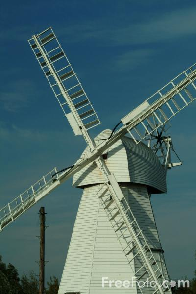Picture of White Mill Windmill, Kent, England - Free Pictures - FreeFoto.com