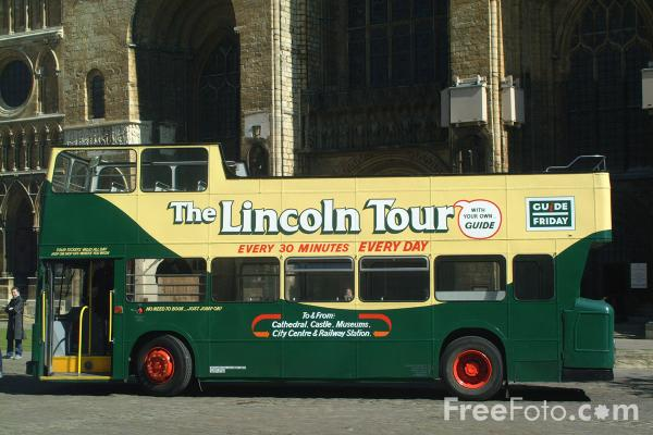 Picture of Guide Friday Tour Bus, Lincoln, England - Free Pictures - FreeFoto.com