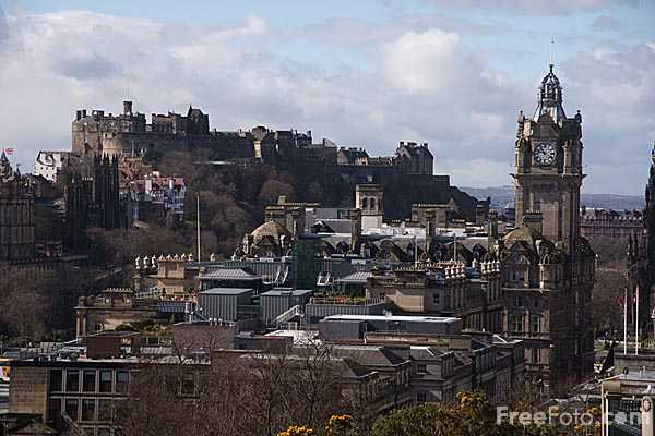 Picture of Edinburgh as viewed from Calton Hill - Free Pictures - FreeFoto.com