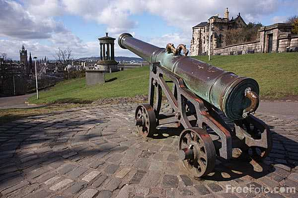 Picture of Calton Hill Cannon - Free Pictures - FreeFoto.com