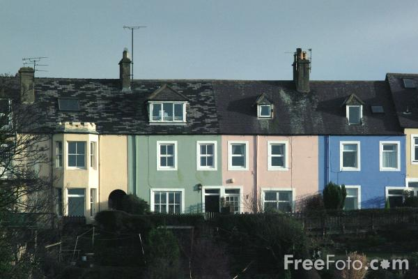 Picture of Houses, Alnmouth - Free Pictures - FreeFoto.com