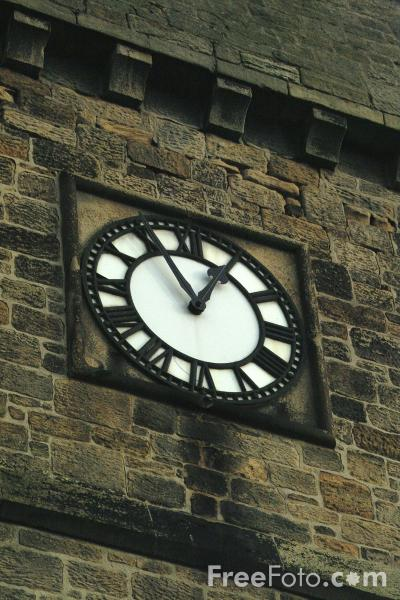 Picture of Clock, St. John's Anglican Church, Alnmouth - Free Pictures - FreeFoto.com