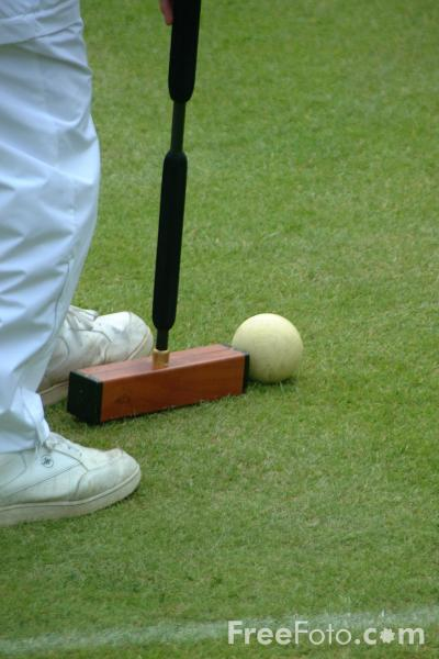 Picture of Croquet, Belsay Hall - Free Pictures - FreeFoto.com