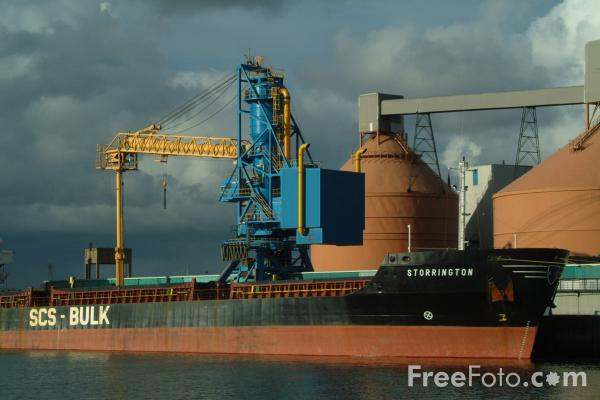 Picture of Stephenson Clarke Shipping General bulk cargo ship Storrington, Blyth Harbour, Northumberland - Free Pictures - FreeFoto.com