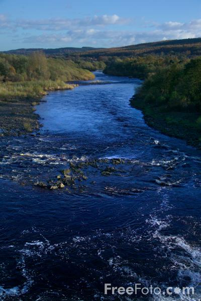 Picture of River Tyne. Hexham, Northumberland - Free Pictures - FreeFoto.com