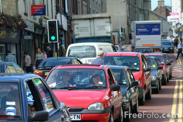 Picture of Traffic Jam, Hexham - Free Pictures - FreeFoto.com