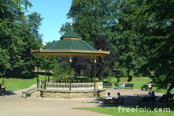 Picture of Bandstand, Park, Hexham - Free Pictures - FreeFoto.com