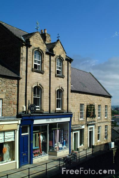 Picture of Shops, Hexham - Free Pictures - FreeFoto.com