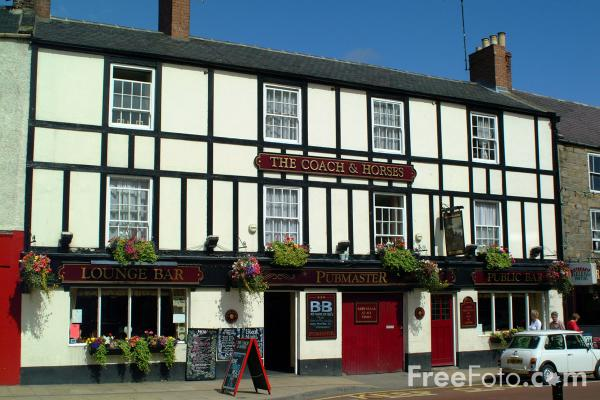 Picture of The Coach and Horses, Hexham - Free Pictures - FreeFoto.com