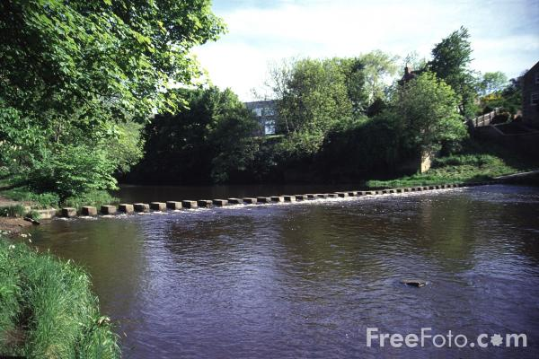 Picture of Stepping Stones across the River Wansbeck - Free Pictures - FreeFoto.com