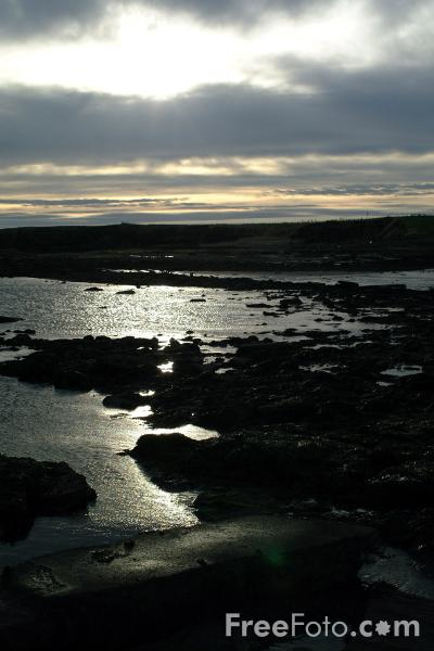 Picture of Stormy Sky, Seahouses Harbour - Free Pictures - FreeFoto.com