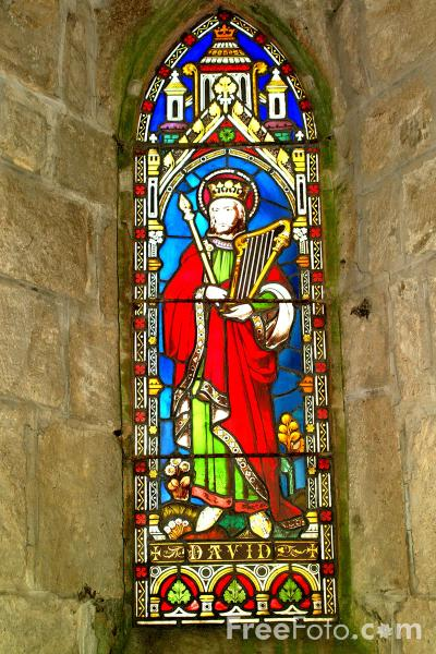 Picture of Stained Glass Window, Parish Church, Whalton, Northumberland - Free Pictures - FreeFoto.com