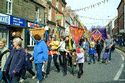 Pageant of children with sculptures, Morpeth Northumbrian Gathering has been viewed 6118 times