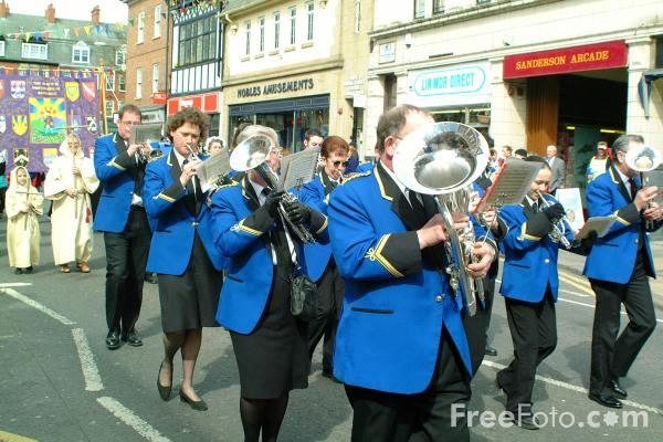 Picture of Ellington Colliery Band, Morpeth Northumbrian Gathering - Free Pictures - FreeFoto.com