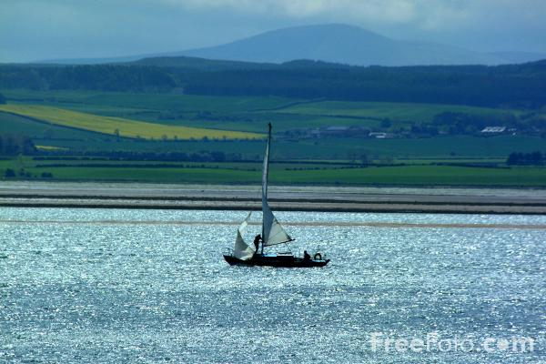 Picture of Yacht, Holy Island - Free Pictures - FreeFoto.com