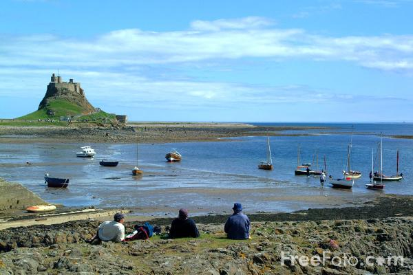Picture of Holy Island's restored 16th century castle. - Free Pictures - FreeFoto.com