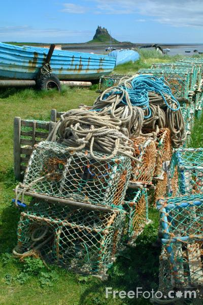 Picture of Lobster Pots, Holy Island - Free Pictures - FreeFoto.com